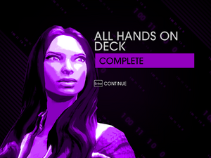 """""""All Hands on Deck"""" mission completion screen"""