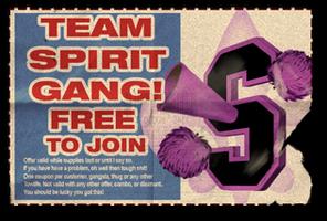 Gang Customization in Saints Row 2 - College gang unlock coupon.png