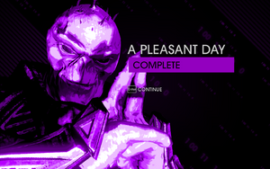 """""""A Pleasant Day"""" mission completion screen"""