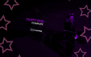 """""""Party Time"""" mission completion screen"""