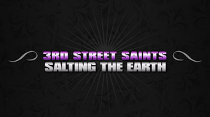 """""""Saints and Martyrs"""" loading screen, displaying the title of the cutscene, """"Salting the Earth""""."""