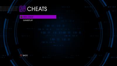 The Cheat menu