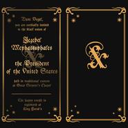 Wedding invitation texture