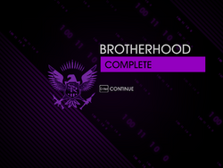 """""""Brotherhood"""" mission completion screen"""