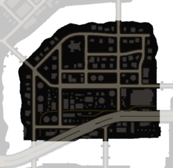 Map of Arapice Island in Saints Row: The Third