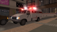 Ambulance with sirens in Saints Row