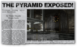 Newspaper clipping showing The Pyramid