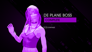 """""""De Plane Boss"""" Mission completion screen in Saints Row IV"""
