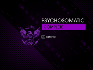 """""""Psychosomatic"""" mission completion screen"""
