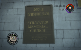 Saints Row Church - Register of Historic Places sign in Saints Row 2.png