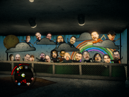 Let's Pretend basement developer heads in Saints Row IV