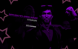 """""""Return to Steelport"""" mission completion screen"""