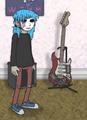 Sal and guitar