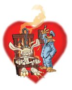 Valentines day drawling by Steve Purcell