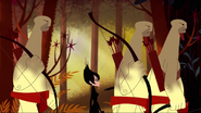 Ashi and Three Blind Archers