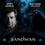 The Sandman Audible Andy Serkis Matthew the Raven