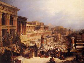 David Roberts-IsraelitesLeavingEgypt 1828.jpg