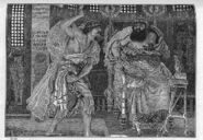 Ehud kills Eglon - Judges 3 21 - Ford Madox Brown