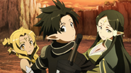Alicia, Kirito y Sakuya
