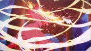Yui venciendo a la guadaña letal