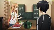 Asuna cocinando el ragout rabbit