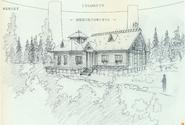 Forest House K4 (outside) design art