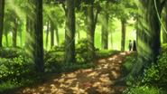 Kirito y Asuna en el bosque