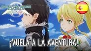 Sword Art Online Lost Song - PS4 PS Vita - ¡Vuela a la aventura! (Spanish Trailer)