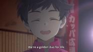 Kazuki smiles to Enta
