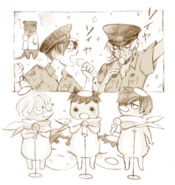 Migi's Doodle to celebrate the release of the Sarazanmai Soundtrack