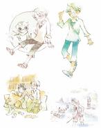 Sarazanmai Perfect Guide Sketches -1