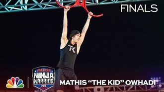 """Mathis_""""The_Kid""""_Owhadi_at_the_Vegas_Finals-_Stage_1_-_American_Ninja_Warrior_2018"""