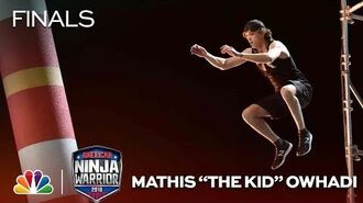 """Mathis_""""The_Kid""""_Owhadi_at_the_Vegas_Finals-_Stage_2_-_American_Ninja_Warrior_2018"""