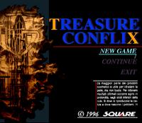 Title screen for Treasure Conflix.