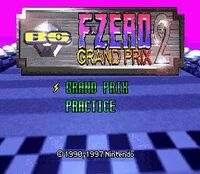 The title screen for BS F-Zero Grand Prix 2