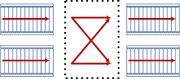 Schematic of a 2-to-2 belt balancer