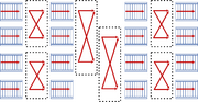 Schematic of a 4-to-4 belt balancer