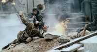 Unknown Allied soldier being killed