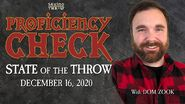 State of the Throw - December 16 2020 - Proficiency Check