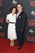 2017 Scandal 100th Episode Celebration - Joshua Malina and Melissa Merwin 01