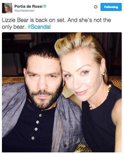 4x13 (01-06-15) Portia de Rossi - Lizzie Bear is back on set