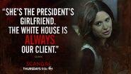 """5x07 - Quinn """"She's the President's girlfriend"""""""