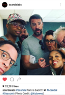 6x01 (07-25-16) Katie Lowes with Scandal Cast