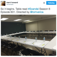 6x01 (07-25-16) Merri Howard - Season 6x01 Table Read