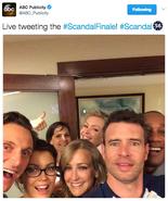2015 Season 4 Finale Live Tweet (ABC Publicity) - Scandal Cast Selfie 2