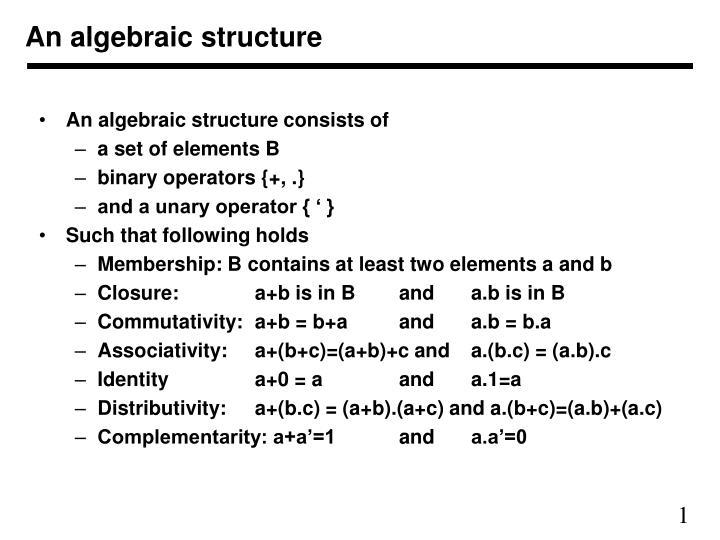 Αλγεβρικό Δόμημα