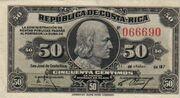 CostaRicaP147-50Centimos-1917-donatedkikka f