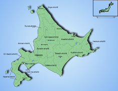 Карта префектуры Хоккайдо