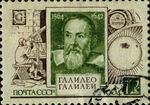 Stamp Galileo Galilei USSR