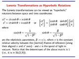 Μετασχηματισμός Lorentz